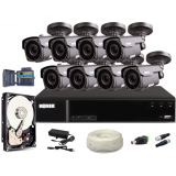 Zestaw CCTV, 8x Kamera HD/IR40, Rejestrator 8k. + 1TB