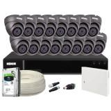 Zestaw CCTV, 16x Kamera HD/IR20, Rejestrator 16k.+ 2TB