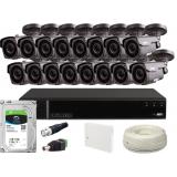 Zestaw CCTV, 16x Kamera HD/IR40, Rejestrator 16k. + 2TB