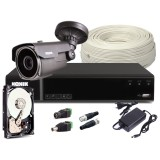 Zestaw CCTV, 1x Kamera HD/IR60, Rejestrator 4k. + 1TB