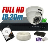 Zestaw monitoringu IP 8 kamer 1080P
