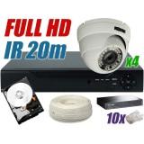Zestaw monitoringu IP 4 kamery 1080P