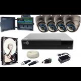ZESTAW MONITORINGU EASYCAM AHD CVI TVI ANALOG 4 KAMERY HD 720P + REJESTRATOR HDD 1TB
