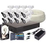 Zestaw 4w1, 8x Kamera FULL HD/IR25, Rejestrator 8ch + 2TB