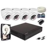 Zestaw AHD, 4x Kamera HD/IR25, Rejestrator 4ch + 500GB