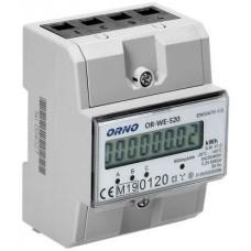 OR-WE-520 ORNO 3-fazowy licznik energii elektrycznej, 80A, MID, 3 moduły, DIN TH-35mm