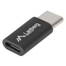 ADAPTER USB-C(M) 2.0->USB MICRO(F) CZARNY