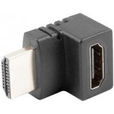 ADAPTER HDMI(M)->HDMI(F) KĄTOWY GÓRA