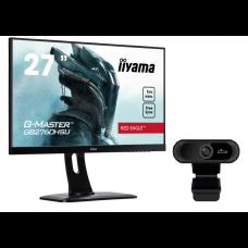 "ZESTAW Monitor IIYAMA GB2760HSU-B1 27"" RED EAGLE+ GRATIS KAMERA INTERNETOWA"