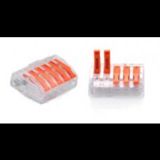 ZŁĄCZKA DO PRZEWODÓW ZATRZASKOWA 0,2-4,0mm2 PC235 5GNIAZD 1szt.