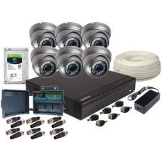 ZESTAW AHD, 6x Kamera FULL HD/IR 35, Rejestrator 8ch +1TB