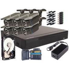 Zestaw 4w1, 6x Kamera FULL HD/IR30, Rejestrator 8ch, 1TB