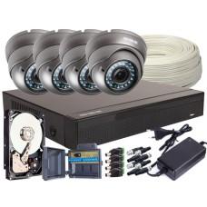 Zestaw 4w1, 4x Kamera FULL HD/IR35, Rejestrator 4ch, HDD 1TB
