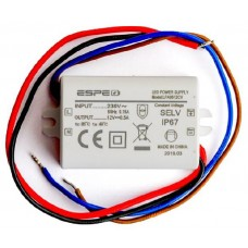 ZASILACZ ESPE LPA0612CV 12V 6W 0,5A DO OŚWIETLENIA LED GW 36M-CY