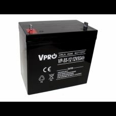 Akumulator AGM VPRO 12V 55Ah