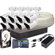 Zestaw 4w1, 8x Kamera FULL HD/IR25, Rejestrator 8ch + 1TB