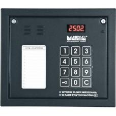 Laskomex CP-2502NR czarny Panel audio z mini listą lokatorów i z czytnikiem kluczy RFID