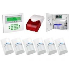 Zestaw alarmowy SATEL Integra 32 LCD, 6 czujek, sygnalizator zewnętrzny