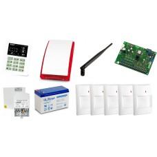 Alarm Satel CA-6 LED, GPRS-A, 5xAqua Plus, syg. zew. SP-4001
