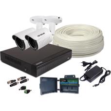 Zestaw 4w1, 2x KameraFULL HD/IR25, Rejestrator 4ch