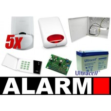 Alarm Satel CA-6 LED, 5xLC-100 PI, syg. zew. SPL-5010R