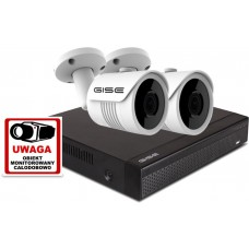Zestaw 2x kamera, Rejestrator 4ch