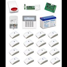 Zestaw alarmowy SATEL PERFECTA 16, Klawiatura LCD, 16 czujników ruchu PET, sygnalizator zewnętrzny, powiadomienie GSM
