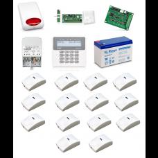 Zestaw alarmowy SATEL PERFECTA 16, Klawiatura LCD, 14 czujników ruchu PET, sygnalizator zewnętrzny, powiadomienie GSM