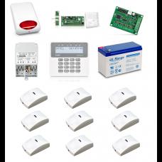 Zestaw alarmowy SATEL PERFECTA 16, Klawiatura LCD, 9 czujników ruchu PET, sygnalizator zewnętrzny, powiadomienie GSM