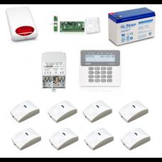Zestaw alarmowy SATEL PERFECTA 16, Klawiatura LCD, 8 czujniki ruchu PET, sygnalizator zewnętrzny, powiadomienie GSM