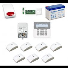 Zestaw alarmowy SATEL PERFECTA 16, Klawiatura LCD, 7 czujniki ruchu PET, sygnalizator zewnętrzny, powiadomienie GSM