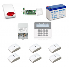 Zestaw alarmowy SATEL PERFECTA 16, Klawiatura LCD, 6 czujniki ruchu PET, sygnalizator zewnętrzny, powiadomienie GSM