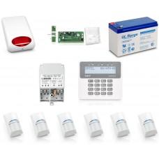 Zestaw alarmowy SATEL PERFECTA 16, Klawiatura LCD, 6 czujniki ruchu, sygnalizator zewnętrzny, powiadomienie GSM