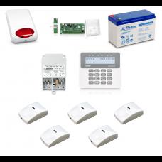 Zestaw alarmowy SATEL PERFECTA 16, Klawiatura LCD, 5 czujniki ruchu PET, sygnalizator zewnętrzny, powiadomienie GSM