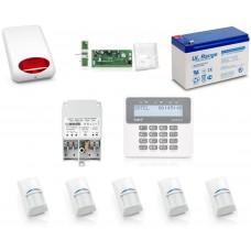 Zestaw alarmowy SATEL PERFECTA 16, Klawiatura LCD, 5 czujniki ruchu, sygnalizator zewnętrzny, powiadomienie GSM