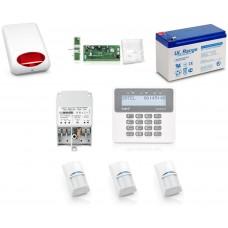Zestaw alarmowy SATEL PERFECTA 16, Klawiatura LCD, 3 czujniki ruchu, sygnalizator zewnętrzny, powiadomienie GSM