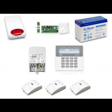 Zestaw alarmowy SATEL PERFECTA 16, Klawiatura LCD, 3 czujniki ruchu PET, sygnalizator zewnętrzny, powiadomienie GSM