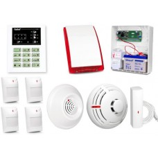 Alarm Satel CA-6 LED, 4xAqua Plus, FD-1, DG-1 CO, TSD-1, syg. zew. SP-4003