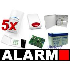 Alarm Satel CA-6 LED, 5xBPR2-W12, syg. zew. SPL-5010R