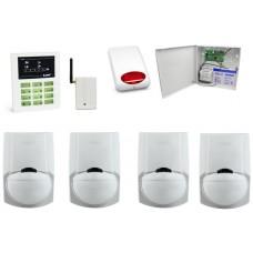 Alarm Satel CA-5 LED, GSM, 4xLC-100 PI, syg. zew. SPL-5010R