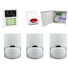 Alarm Satel CA-5 LED, 4xLC-100 PI, syg. zew. SPL-5010R