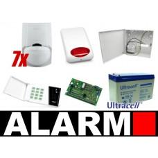 Zestaw alarmowy Satel CA-10 LED, 5 Czujek, Sygnalizator zewnętrzny
