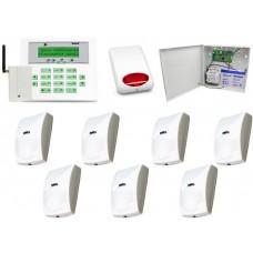 Zestaw alarmowy Satel CA-10 LCD, GSM, 7 Czujek, Sygnalizator zewnętrzny