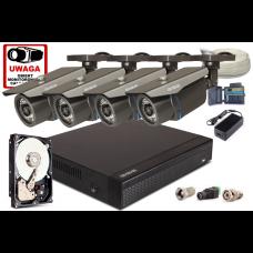 Zestaw AHD, 4x Kamera FullHD/IR 30m, Rejestrator 4ch + 1TB