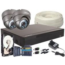 Zestaw 4w1, 2x Kamera FULL HD/IR20, Rejestrator 4ch, HDD 1TB