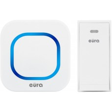 DZWONEK BEZPRZEWODOWY ''EURA'' WDP-80H2 ''FOLK'' bezbateryjny, przycisk (kinetyczny), możliwość rozbudowy