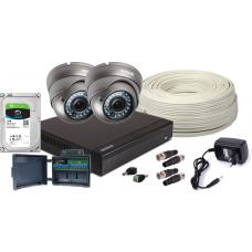 Zestaw 4w1,2xkamera FullHD/IR35, Rejestrator 4ch HDD 1TB