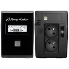 UPS ZASILACZ AWARYJNY POWER WALKER VI 850 LCD FR