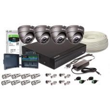 Zestaw 4w1, 4x Kamera 5MPX/IR25, Rejestrator 4ch, HDD 1TB