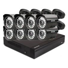 Zestaw 4w1, 8x Kamera HD/IR20, Rejestrator 8ch